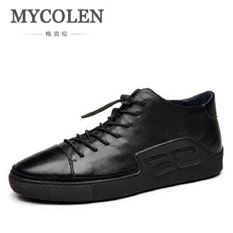 MYCOLEN Hot Sale SC Letter Men Shoes Breathable Male Casual Shoes Chaussure Homme Soft Men Black Cool Shoes Height Increasing 2017 new chaussure homme mens shoes casual leather vulcanize hip hop white men platform summer hot sale breathable black shoes