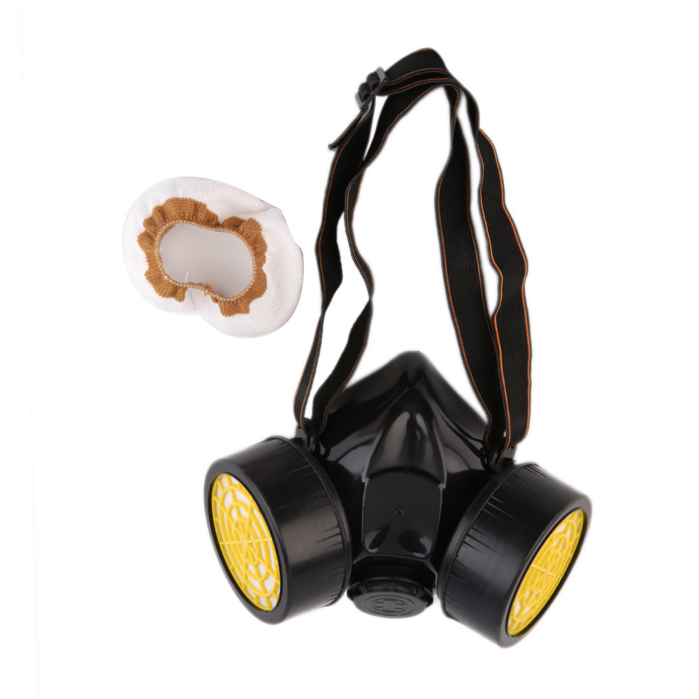 Working Mask Emergency Survival Safety Respiratory Gas Mask Filter Anti Dust Paint Smoke Respirator Mask Protection Filter Black