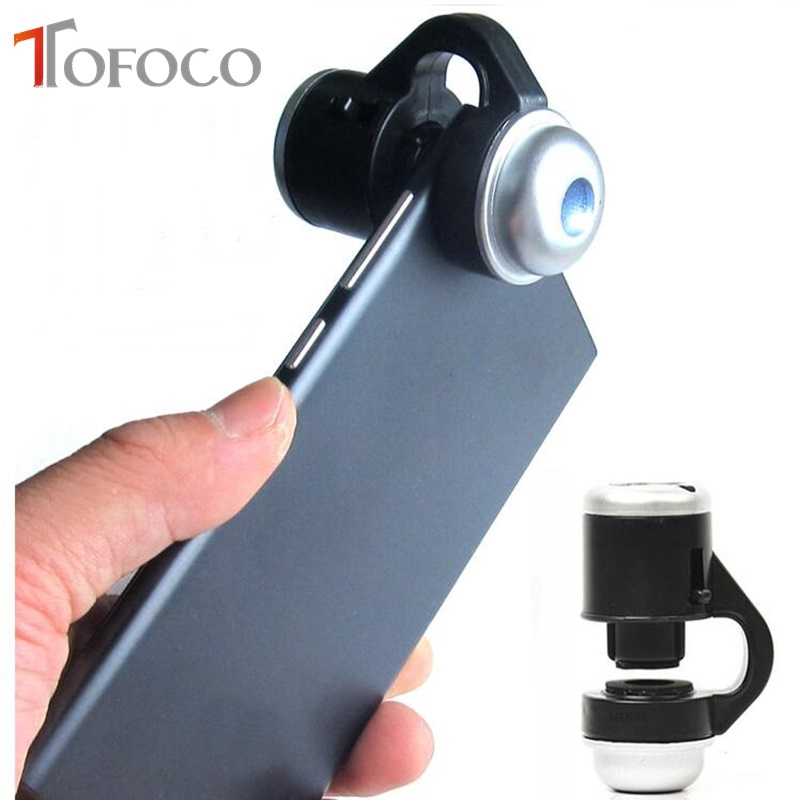 TOFOCO Universal 30X Optical Zoom Mobile Phone Microscope Clip font b Science b font Educational Toys