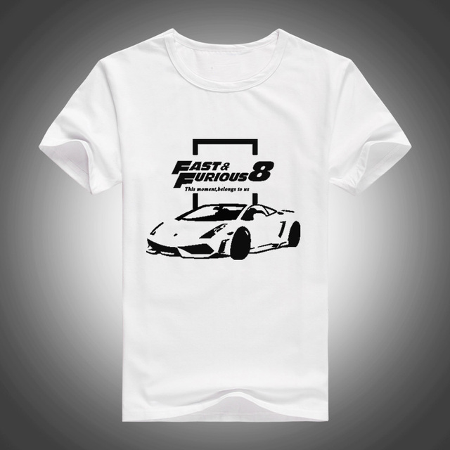 Furious 8 Men T Shirts For Fashion Hip Hop Fast Shirt Printed Bodybuilding Clothing Fitness