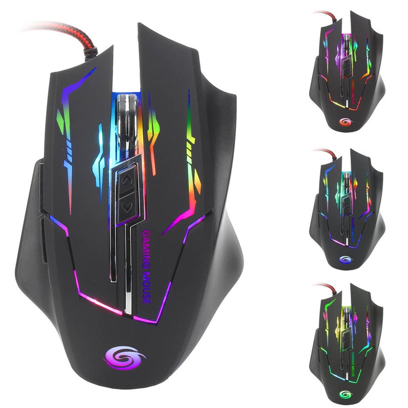3200 DPI 6D Buttons LED Wired Gaming Mouse For PC Laptop rato MOSUNX Futural Digital MAY16