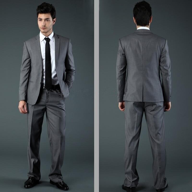 Best selling 2016 brand mannen slim fit suits en smokings voor mannen blauw zwart lichtgrijs twee knop drie stuk jas + broek + tie - 3