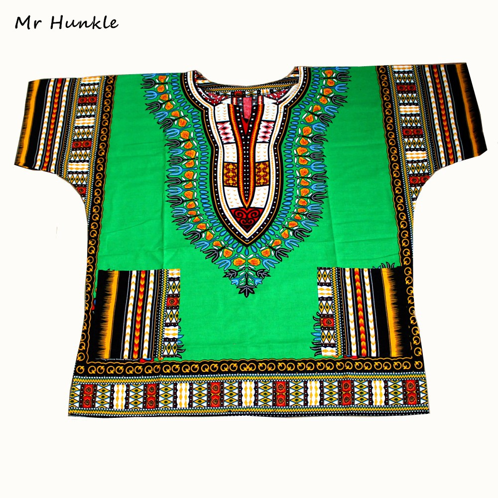 Mr Hunkle New African Dashiki Fashion Design African Traditional Floral Print Dashiki Dress(fast shipping)