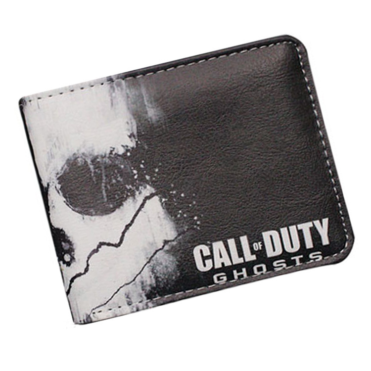 Hot Game Wallet Call of Duty wallet men women leather pu short purse With Coin Pocket New Design Coin Purse 3 style american super hero batman pu short zero wallet coin purse with interior zipper pocket