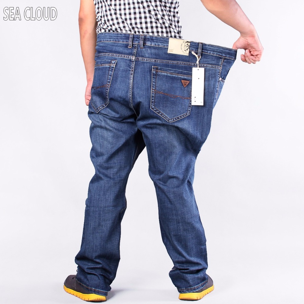 86 Plus Size Military Men Hiphop Pants Cotton Tops Jeans Men Straight Loose Long Trousers Brand Size 50 52 For 160 Kg