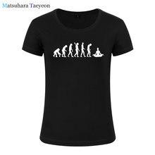 Moda mujer ropa evolución creativa arte imprimir camiseta mujer Top manga  corta Mujer tops ropa marca para las niñas ed5fc7eb70c77
