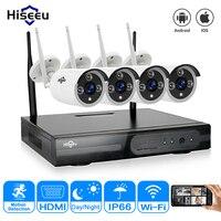 Wireless CCTV System 4ch Powerful Wireless NVR IP Camera IR CUT Bullet CCTV Camera Home Security