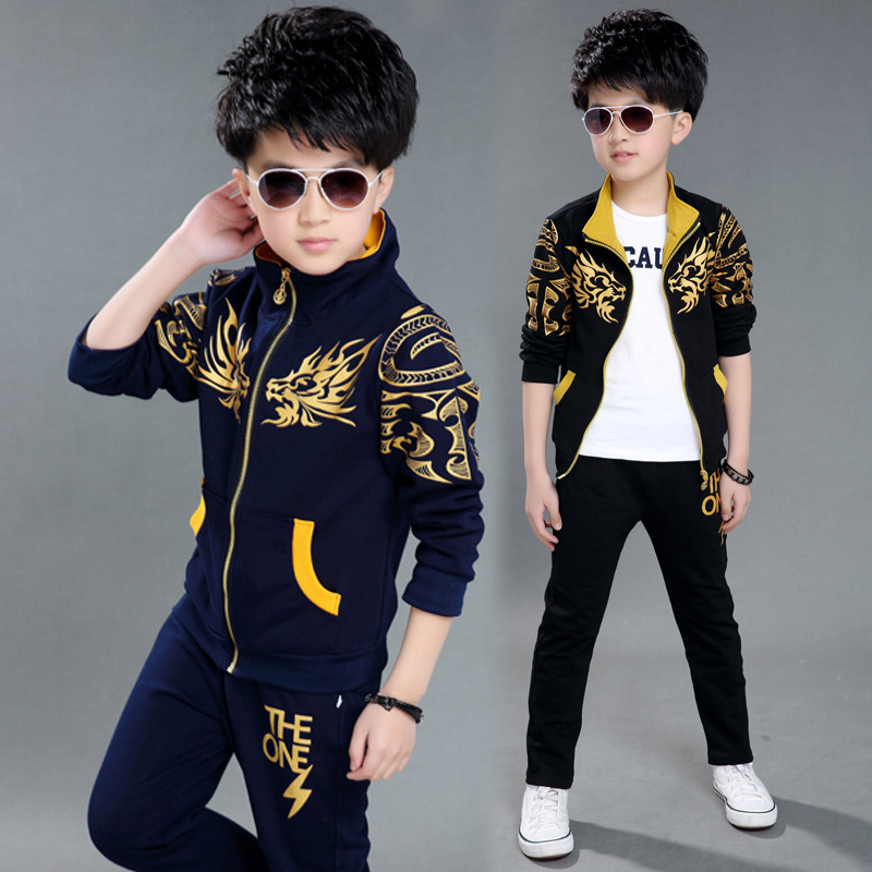 d20a0fdb1 Hots The Boys and Girls Wear Spring Sport Suit Children New Kids Spring  Coat + Pants 2 Suits 4-12 Ages Free Shipping