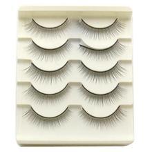 Beauty Gril 5 Pair Handmade Natural False Eyelashes Natural Eye Lashes Cosmetics Aug 9