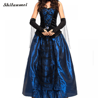 2018 Gothic Marie Antoinette Gown Renaissance Wench Gothic Princess Dress Vampire Theatre Fancy Party Halloween Costume