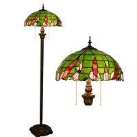 European Tiffany Color Glass Green Living Room Dining Room Bedroom Decorative Floor Lamp Bar Lighting