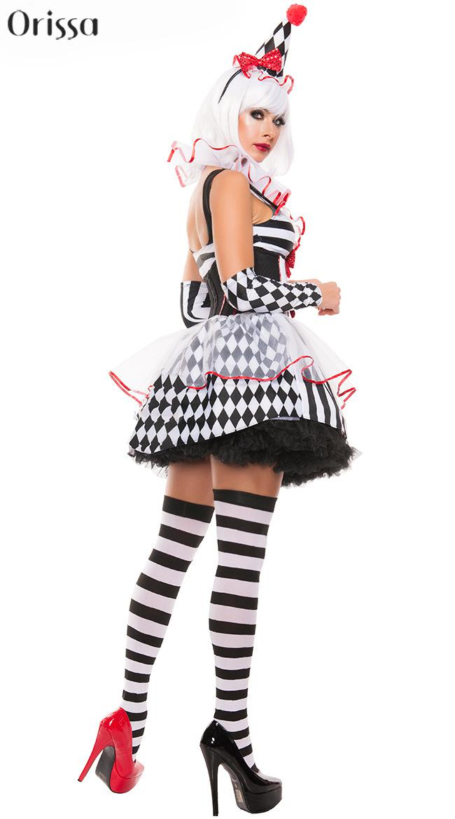 online shop halloween costumes adult funny circus clown costume naughty harlequin uniform fancy cosplay clothes for women aliexpress mobile - Halloween Costumes Harlequin