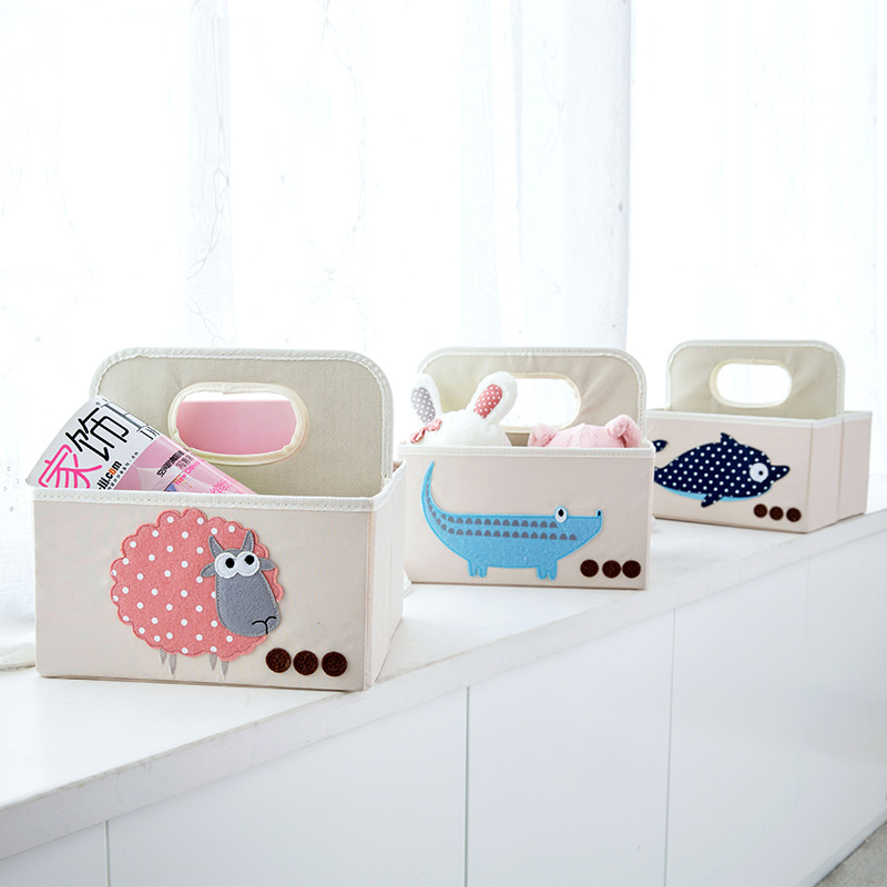Peach Blossom Desktop Table Storage Basket Snacks Small Basket Handbag  Collection Basket Storage Box(China