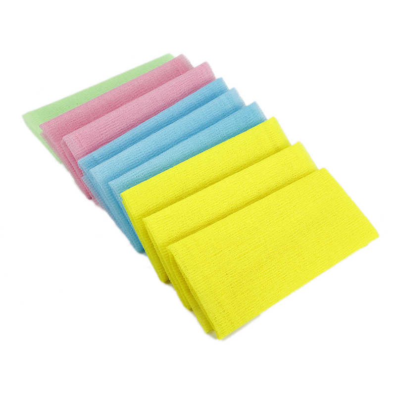 1 Pcs Nylon Exfoliating Bath Shower Body Cleaning Washing Scrubbing Towel Scrubbers Products Random Color TSLM2