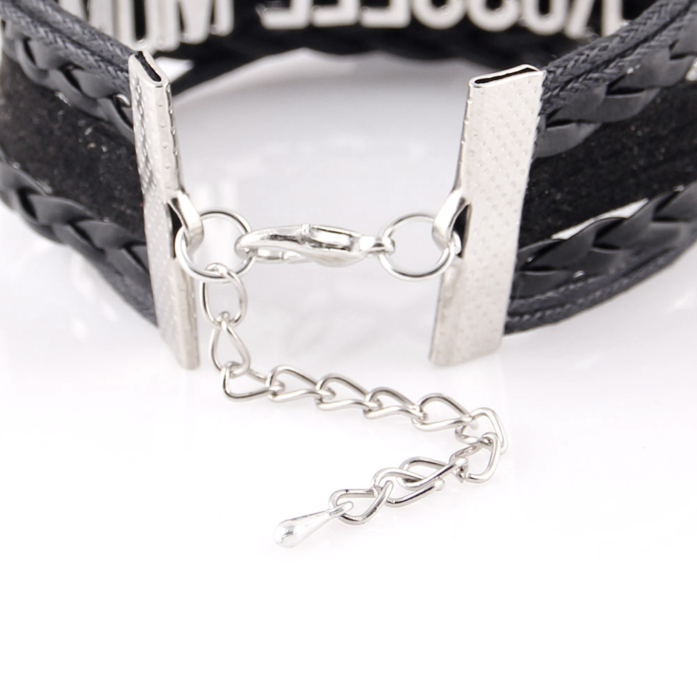 Little Minglou Infinity charm 2018 Senegal soccer bracelet soccer charm leather wrap men bracelets & bangles for women jewelry