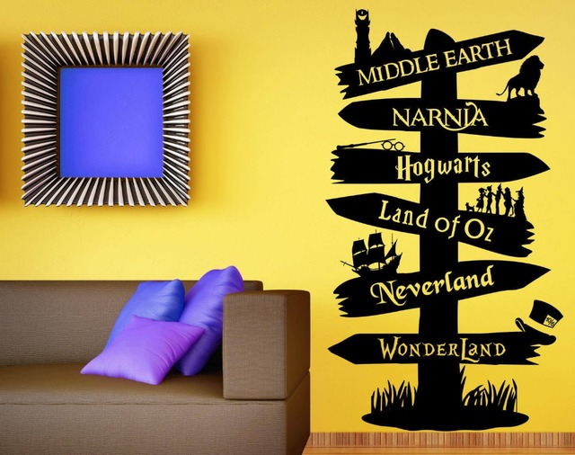 Wall Decal Vinyl Sticker Storybook Signpost