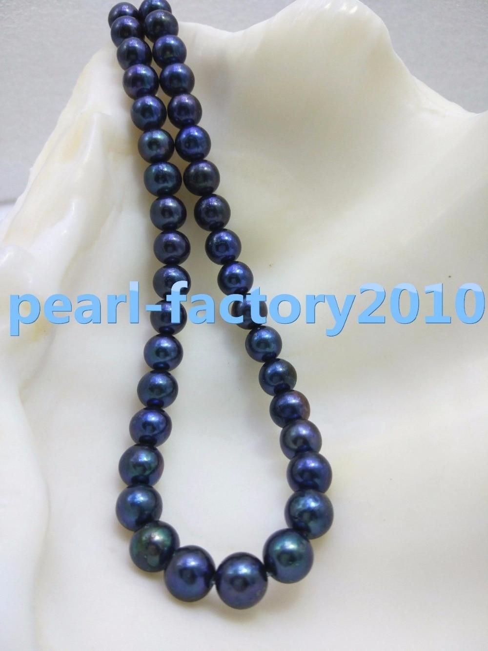 Collier de perles noires 18 9-10 MMCollier de perles noires 18 9-10 MM
