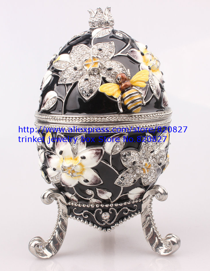 Faberge Egg Trinket Jewelry Box with a Pearl on Top for SaleFaberge Egg Trinket Jewelry Box with a Pearl on Top for Sale