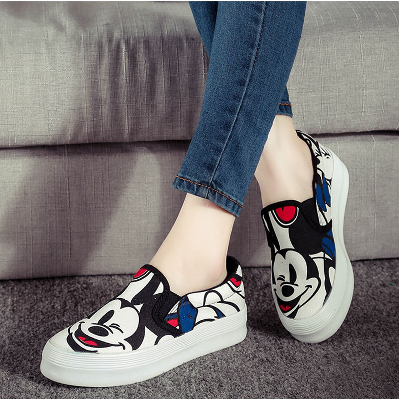 Spring And Autumn Season Cartoon Canvas Shoes Female Korean Edition College Wind Student Casual Shoes women Fashion Elegant