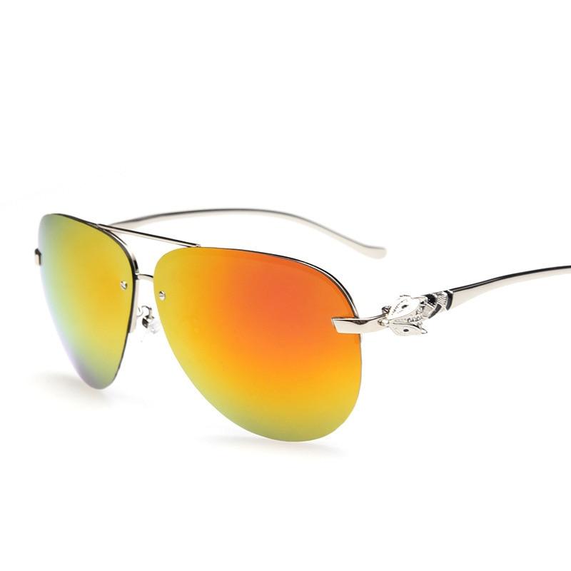 2016 Silver Fox legs Magnesium aluminum alloy fashion Colorful men women polarized sun glasses UV400 sunglasses