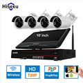 10 Inch Displayer 4CH 720P Wireless CCTV System Wireless NVR IP Camera IR-CUT Bullet Home Security System CCTV Kit Hiseeu