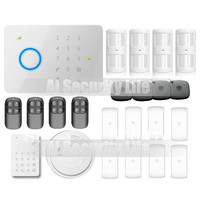 Universal 315Mhz CHUANGO G5 GSM SMS Home Burglar Security Alarm System With RFID Tag Access Control