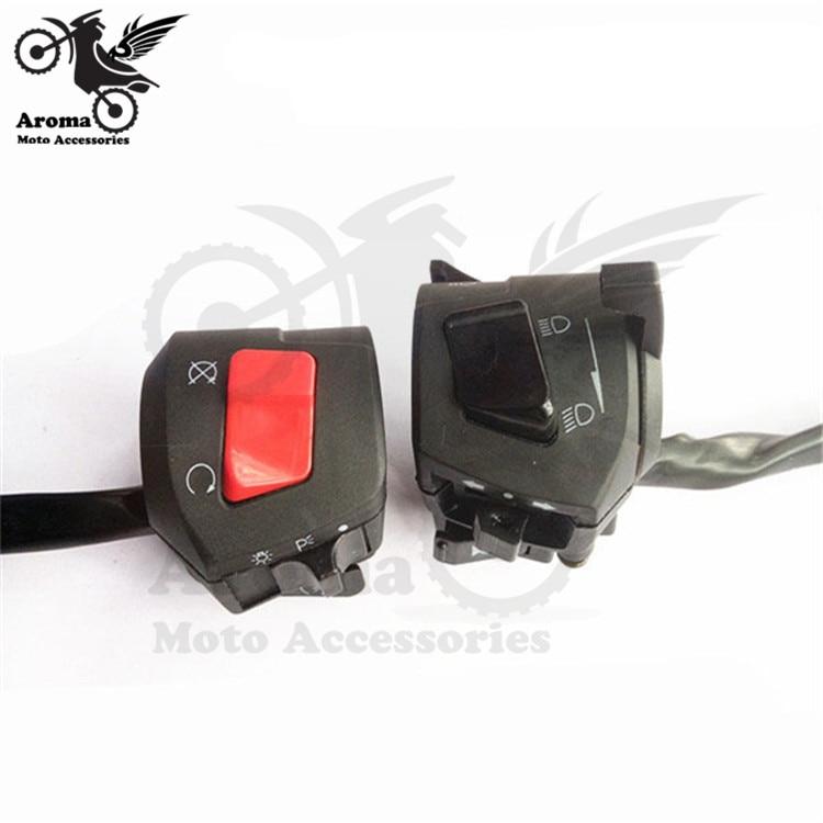 unviersal 22MM motorbike switch for honda suzuki yamaha headlight turn signal light power horn motorcycle controller moto switch