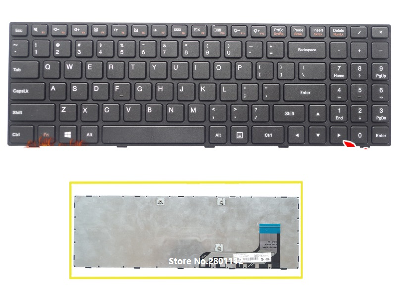 SSEA New Laptop US Keyboard For <font><b>Lenovo</b></font> Ideapad 100-15 100-15IB <font><b>B50</b></font>-<font><b>10</b></font> 100-15IBY image