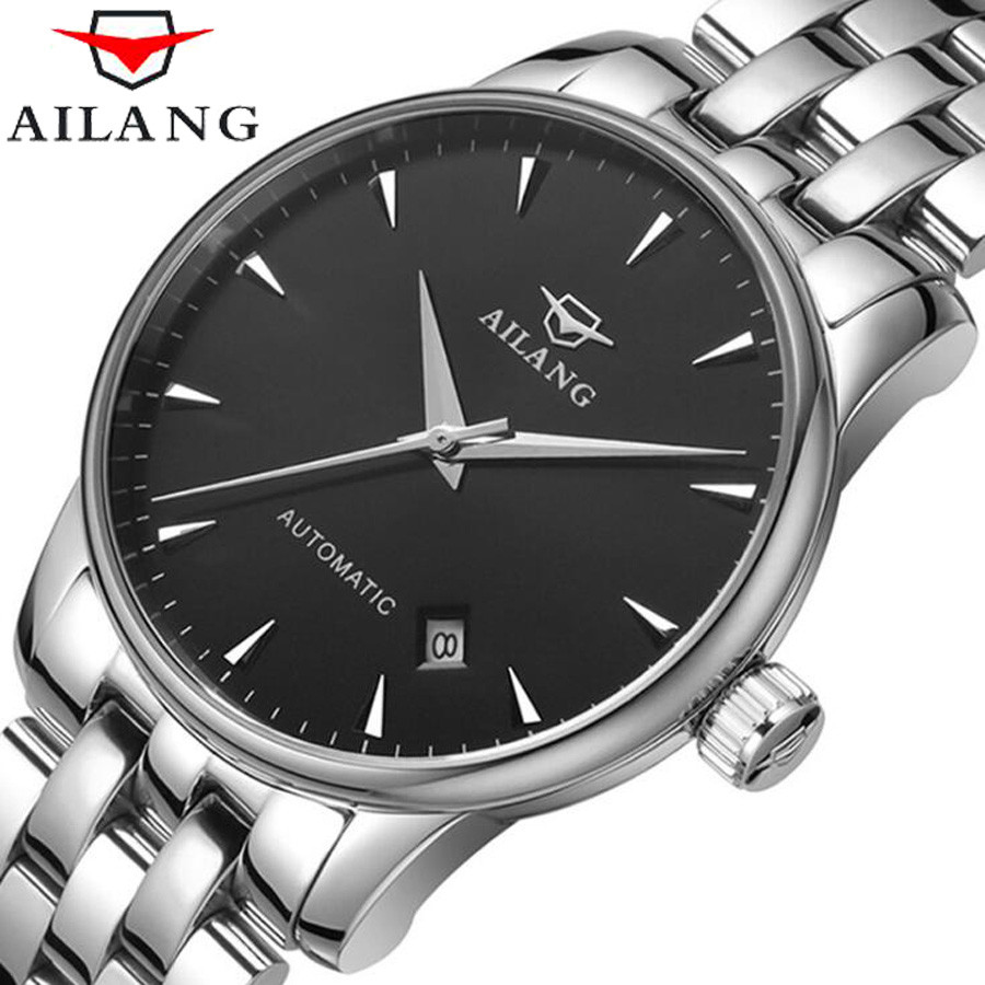 AILANG Top Brand Luxury Waterproof Automatic Watch Men Mechanical Watch Business Sport Casual Watch Relogio Automatico Masculino 2018 ailang sapphire automatic mechanical watch mens top brand luxury waterproof brown genuine leather watch relogio masculine