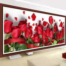 DIY 5D diamond Painting Red rose flower 5D Cross Stitch diamond embroidery – embroidery sticker home wedding decor