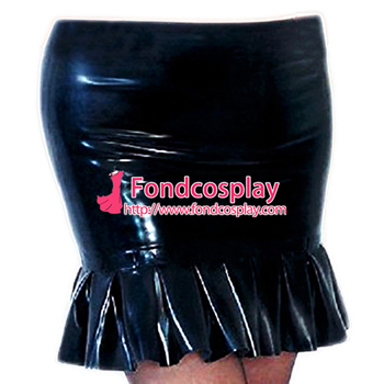 Sissy maid pvc skirt cosplay costume Tailor-made[G3701]