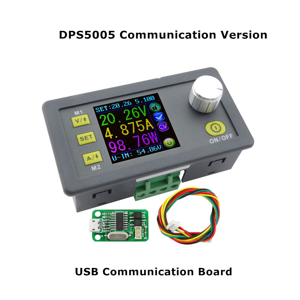 DPS5005 Communication Function Constant Voltage current Step-down Power Supply module buck Voltage converter voltmeter 50V 5A 10pcs lot dps5005 communication function step down power supply module buck voltage converter constant current lcd voltmeter 40%