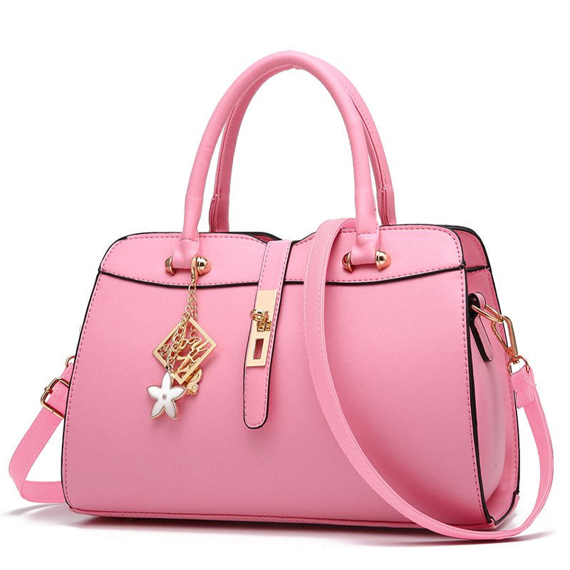2017 Female Pink Messenger Bags Fashion Women Brand Designer Handbags & Crossbod