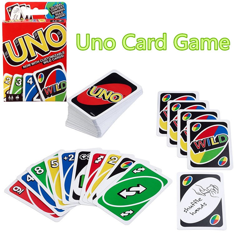 все цены на 3 Style UNO Board Game Card Game Poker Family Fun One Pack of 108pcs Pokers Card Game Fold Playing Card Entertainment Hot онлайн