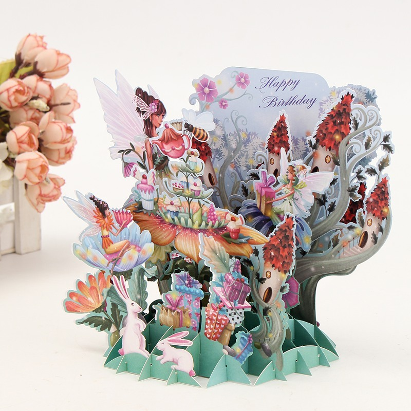 Flor Fucsia Hadas Die Cut 3D Decoupage Sheet TARJETA de hacer arte de papel sin cortar