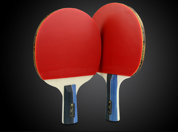 Cheap  One Set Professional 3-star Table Tennis Bat Racket Long Short Handle Ping Pong  Blade  Racket Pimples With Balls Bag