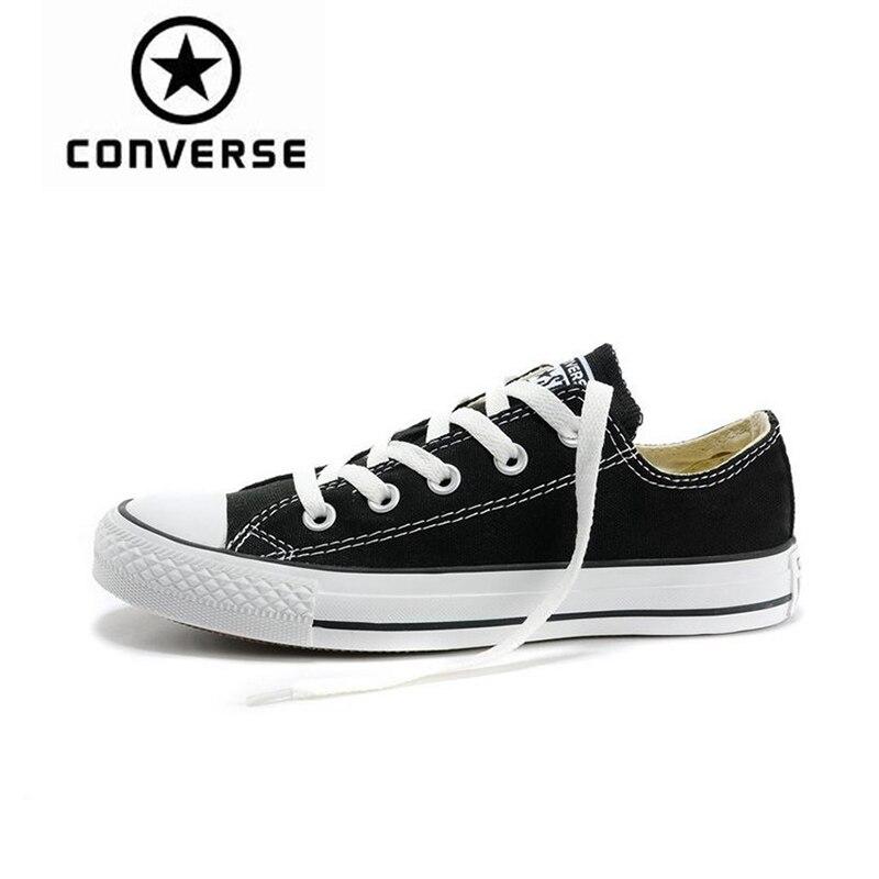 Converse/обувь для скейтбординга с низким верхом для мужчин и женщин, Новое поступление, Аутентичные классические парусиновые кроссовки унисек...