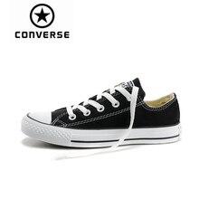 Converse/обувь для скейтбординга с низким верхом для мужчин и женщин, Новое поступление, Аутентичные классические парусиновые кроссовки унисекс с нескользящей подошвой