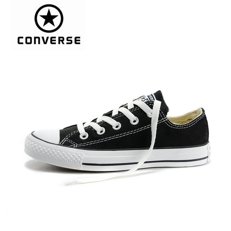 Converse hombres y mujeres Low Top Skateboarding zapatos novedad auténtico clásico lona Unisex Anti-Slippery Sneakser