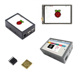 New 3.5 inch 128M SPI 60Hz TFT LCD Display Touch Screen + ABS Case + Fan + Heat sink For Raspberry Pi 3 B+