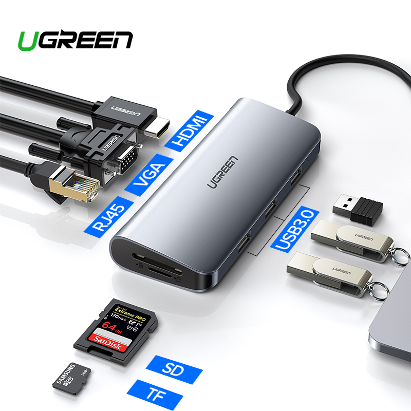 Ugreen Thunderbolt 3 Dock USB Type C to HDMI HUB Adapter for MacBook Samsung Dex Galaxy S10/S9 USB-C Converter Thunderbolt HDMI 53000459