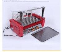 일곱 스틱 소시지 바베큐 기계 스테인레스 스틸 구이 창자 6 뿌리 핫도그 로스트 햄 바베큐 DIY