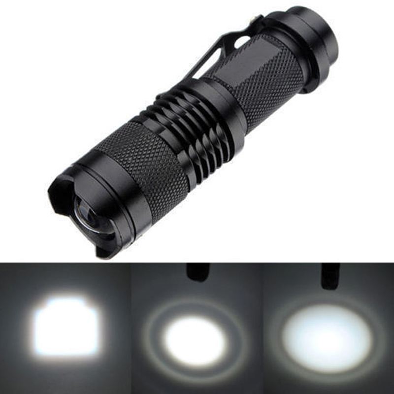 New Hot 6PCS 600LM Q5 LED Flashlight Mini LED Torch Adjustable Focus Zoom Flash Light Super Bright Lantern Lamp aisi® portable bright led compass flashlight torch adjustable zoom light lamp