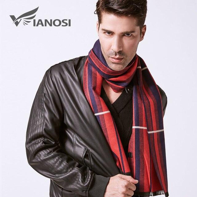 VIANOSI Brand Scarf Fashion Design Casual Scarves Winter Men's Wool Scarf luxury Brand High Quality Warm Scarves Men VA245