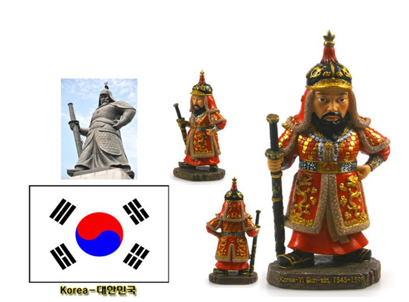 South Korea Yi Sun-sin Army General Creative Resin Crafts World Celebrity Statue Tourism Souvenir Collection Home Decortion
