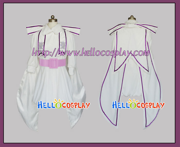 Macross Frontier Cosplay Sheryl Nome White Dress H008