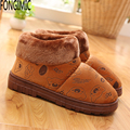 New arrival men new winter printed keep warm slipper thick soft velvet comfortable indoor slip-on home fashion cotton slippers
