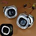 Из светодиодов площадь глаза ангела гало HID биксеноновая объектив проектора фар 2.5 дюйм(ов) LHD ржс фары линзы стайлинга автомобилей H1 H4 H7