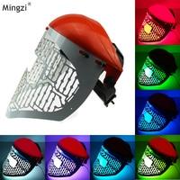 7 Color LED Light Therapy Facial Mask Red Blue Green Led Skin Rejuvenation Facial Mask Helmet