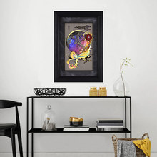 Asklove Gold Abstract couples portrait painting poster 24K Gold foil painting Lover Magpie Wall art picture Gift Home decoration(China)